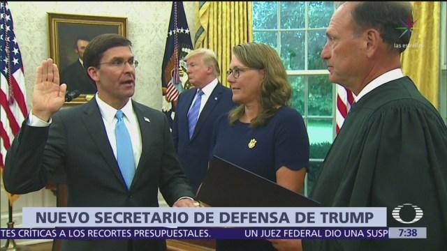 Senado de Estados Unidos confirma a Mark Esper como jefe del Pentágono