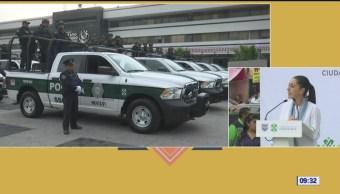 Sheinbaum entrega nuevas patrullas en alcaldía Gustavo A. Madero