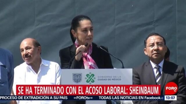 Foto: Claudia Sheinbaum, la jefa de Gobierno de CDMX, durante su informe por 200 días de su gobierno, el 21 de julio de 2019 (Noticieros Televisa)