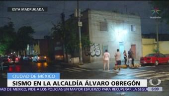 Sismo sorprende a habitantes de la alcaldía Álvaro Obregón, CDMX