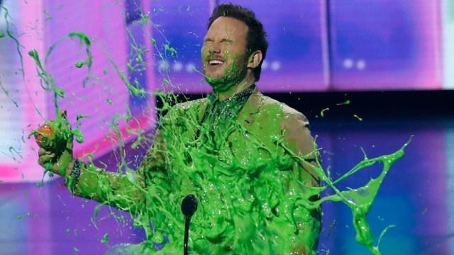 Foto: Chris Pratt cubierto de slime, 23 de marzo de 2019, California, EU