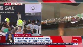 FOTO: Subastan 148 lotes de joyas en Los Pinos, 28 Julio 2019