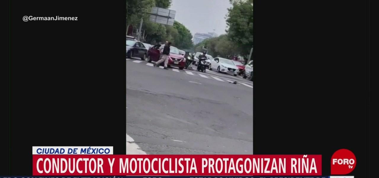 Uber pide permiso pasajero para pelear motociclista