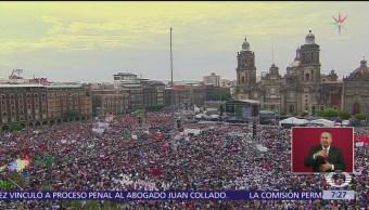 TEPJF ordena investigar celebración de AMLO en Zócalo capitalino