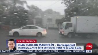 Tormenta azota área metropolitana de Guadalajara