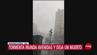 FOTO: Tormenta deja un muerto en Guadalajara