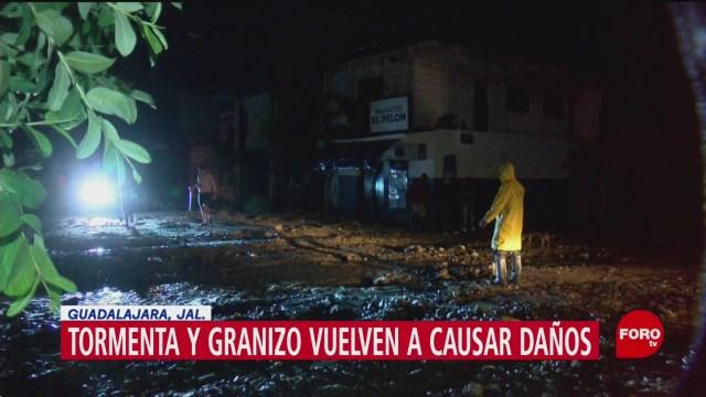 FOTO: Tormenta y granizada causa daños en Jalisco