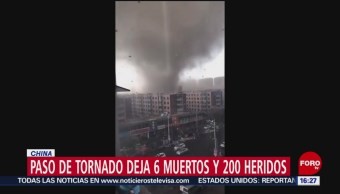 Foto: Tornado deja al menos seis muertos en China