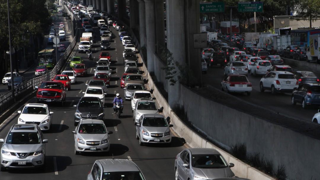 Foto: Tráfico en la Ciudad de México. (21 de mayo de 2019)