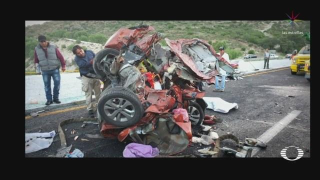 Foto: Tráiler Impacta Ocho Vehículos Carretera San Luis Potosí-Querétaro 29 Julio 2019