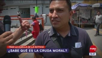 Tras la huella de la noticia: ¿Sabes qué es la cruda moral?