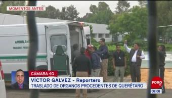 Trasladan órganos procedentes de Querétaro a hospitales de CDMX