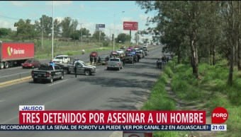 FOTO: Tres detenidos por asesinar a un hombre en Jalisco, 14 Julio 2019