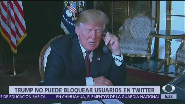 Trump no puede bloquear usuarios en Twitter