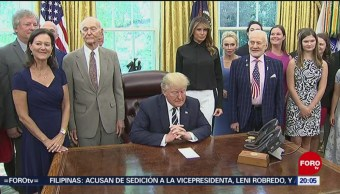 Foto: Trump Recibe Astronautas Apolo 11 19 Julio 2019