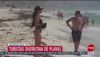 FOTO: Turistas disfrutan de las playas en Quintana Roo, 14 Julio 2019