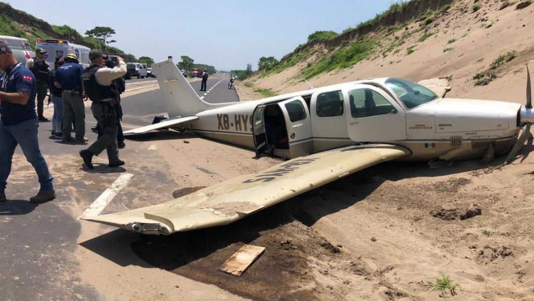 Foto: La avioneta presuntamente tuvo una falla mecánica, el 5 de julio de 2019 (Noticieros Televisa, especial)