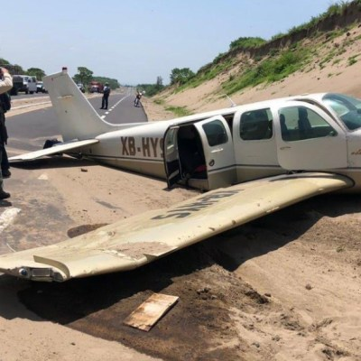 Una avioneta realiza aterrizaje de emergencia en Veracruz