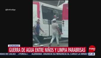 Foto: Video Guerra Agua Niños Limpia Parabrisas Durango 15 Julio 2019