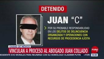 FOTO: Vinculan a proceso al abogado Juan Collado