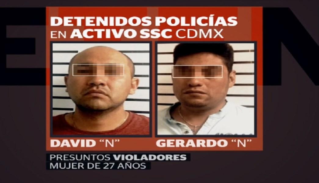 Detienen a policías por presunta violación de una joven en CDMX