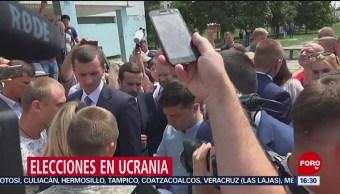 """FOTO: Vladimir Zelenski hace historia con la victoria de su partido """"El servidor del pueblo"""", 21 Julio 2019"""