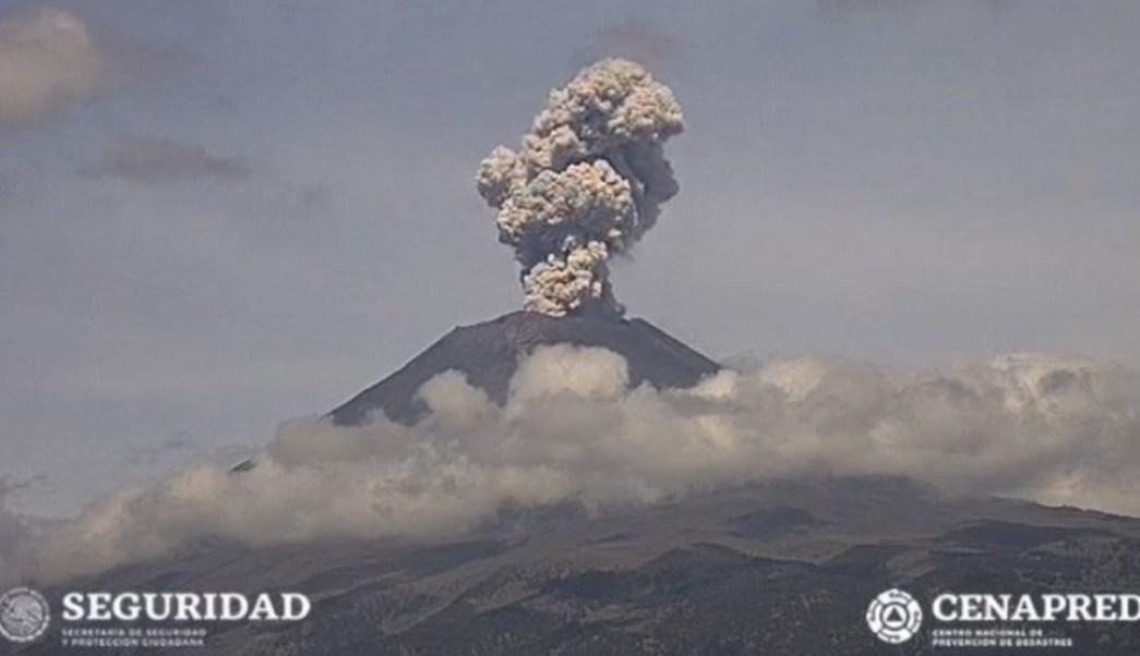 Foto: Se exhorta a no subir al cráter del volcán y atender las recomendaciones de Protección Civil, 20 de julio de 2019 (Twitter @PC_Estatal)