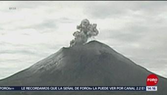 El volcán Popocatépetl sigue con actividad constante, esta mañana presentó emisiones de cenizas, el semáforo de alerta continúa en amarillo fase dos