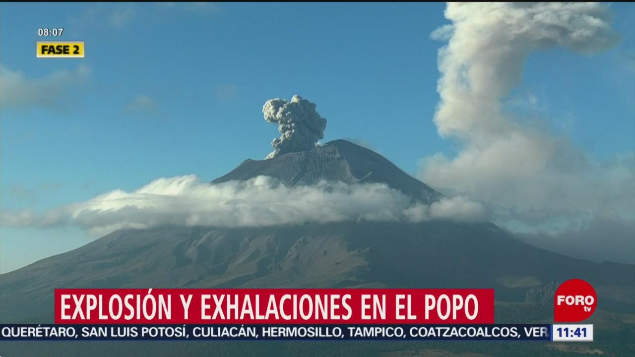 Con Volcán Registró Contenido Popocatépetl De Explosiones Ceniza xrCedBoW
