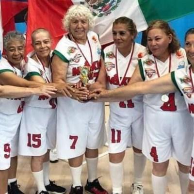 Abuelitas mexicanas, campeonas mundiales de basquetbol