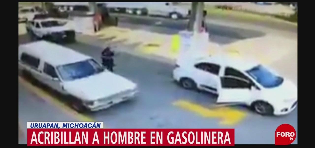 FOTO: Video Acribillan Hombre Gasolinera Michoacán