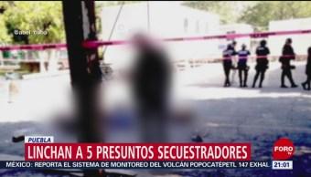 Foto: Linchan Presuntos Secuestradores Puebla Video 7 Agosto 2019