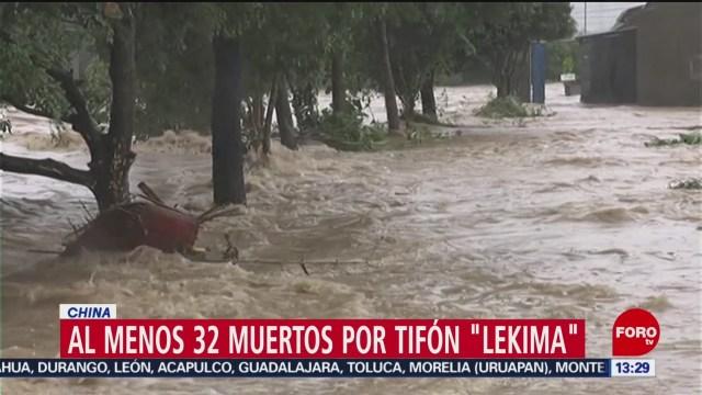 """FOTO: Al menos 32 muertos por tifón """"Lekima"""" en China, 11 Agosto 2019"""