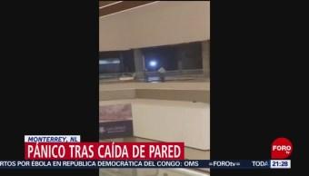 FOTO: Alarma en un centro comercial de Monterrey por pared falsa, 25 Agosto 2019