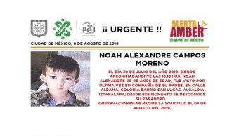Foto Alerta Amber para localizar a Noah Alexandre Campos Moreno 8 agosto 2019