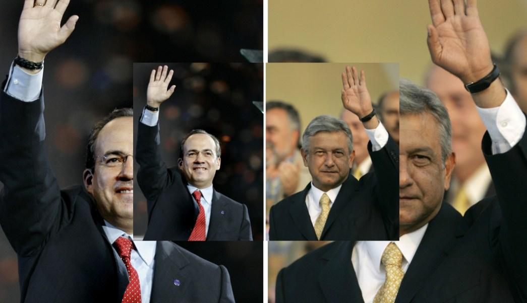Foto: Felipe Calderón y Andrés Manuel López Obrador, 5 de marzo de 2006, Ciudad de México