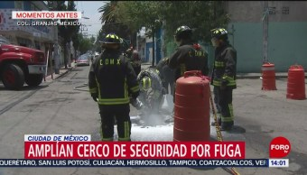 FOTO: Amplían cerco de seguridad en Iztacalco por toma clandestina, 24 Agosto 2019