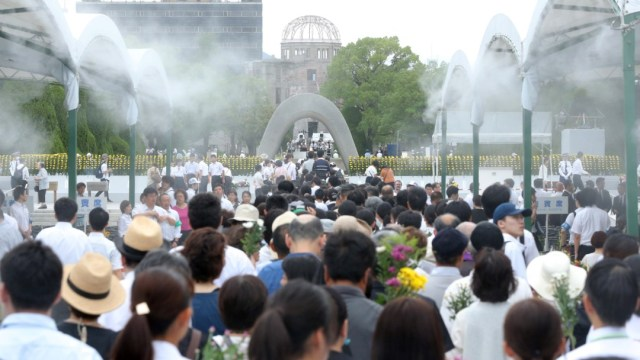 Foto: Aniversario de bombardeo atómico en Hiroshima, 6 de agosto de 2019, Japón