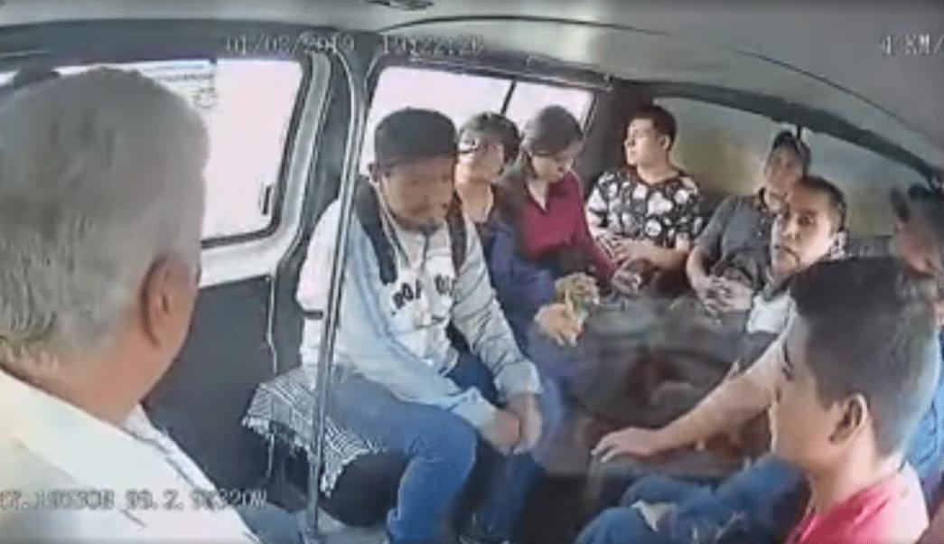 """Foto """"Gente, ya se la sabe"""", dicen asaltantes a pasajeros en Tecámac 15 agosto 2019"""