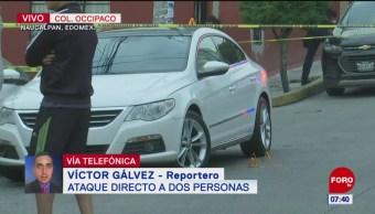 Asesinan a dos personas en calles de Naucalpan, Estado de México