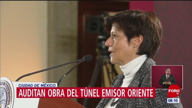 Auditan obra del túnel emisor oriente en CDMX, dice directora de Conagua