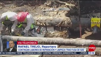 FOTO: Avance del 50% en labores de reparación de toma clandestina en Iztacalco, 25 Agosto 2019
