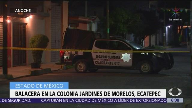 Balacera en Ecatepec, Edomex, deja dos heridos