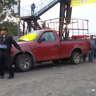 Bloqueo en carretera México-Cuernavaca, por más seguridad y transporte