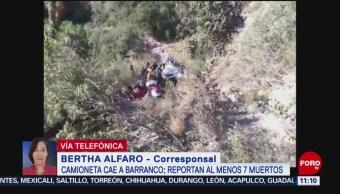 Camioneta cae a barranco en Zimapán, Hidalgo; reportan varios muertos
