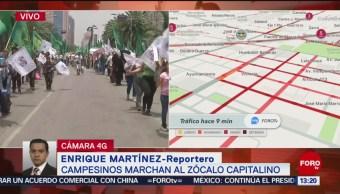 FOTO: Campesinos Marchan Zócalo Capitalino