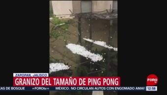 Captan en video granizo del tamaño de bolas de ping pong