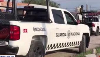 Foto: Un elemento de la Guardia Nacional murió en uno de los hechos, 11 de agosto de 2019 (Noticieros Televisa)