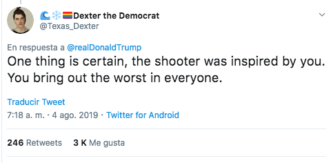 Foto: Tweets contra Trump. 4 agosto 2019