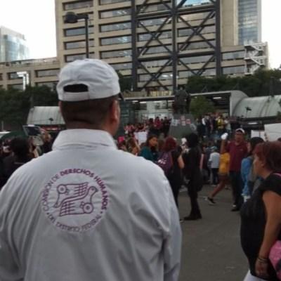 Adecuada, actuación de gobierno capitalino en manifestación feminista: CDHDF